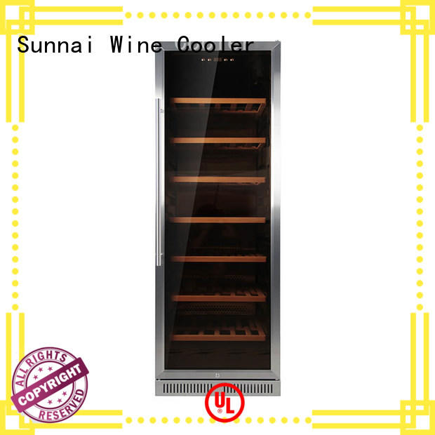 Sunnai dual under counter wine fridge wholesale for shop