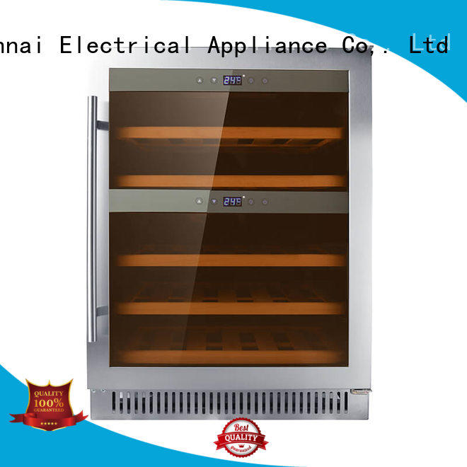 online under counter dual zone wine fridge door supplier for indoor