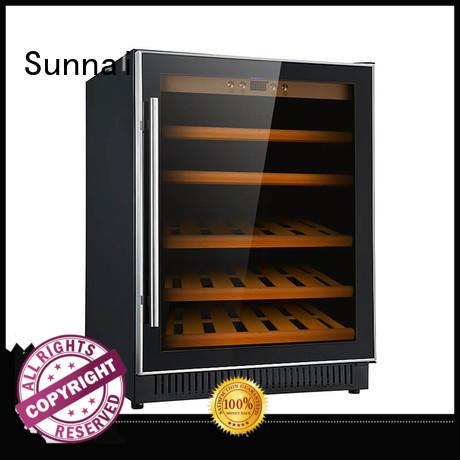professional double doors wine cooler single compressor for shop