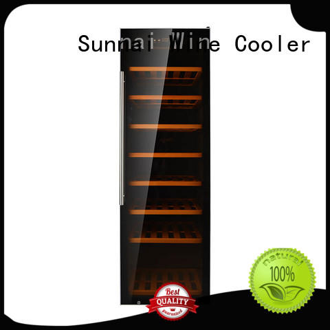 high quality dual zone wine cooler steel supplier for shop