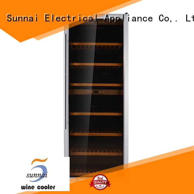 Sunnai bottles dual zone wine fridge series for work station