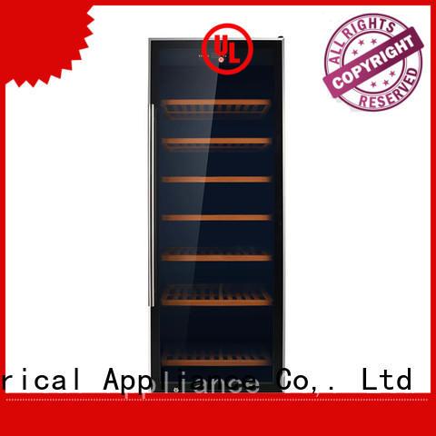 Sunnai panel compressor wine cooler dual zone manufacturer for shop