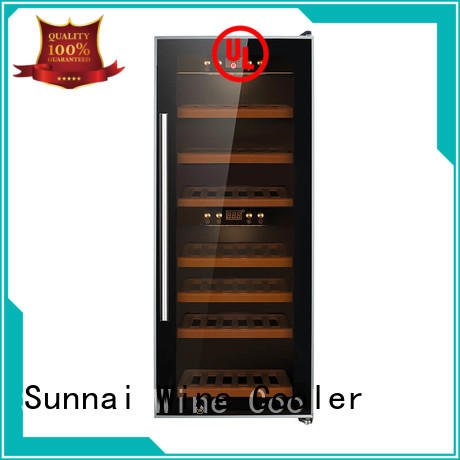 safety dual zone wine fridge table product for home