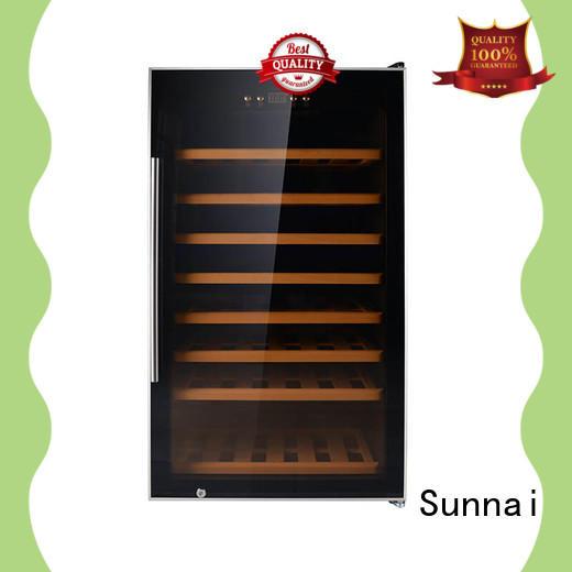 Sunnai single freestanding wine cooler under cabinet steel for shop