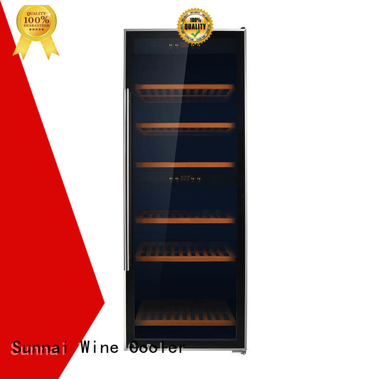 Sunnai high quality single zone wine cooler refrigerator for indoor