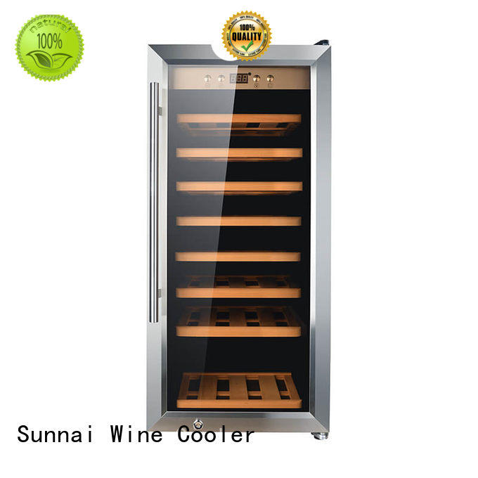 panel single zone wine refrigerator refrigerator for home Sunnai
