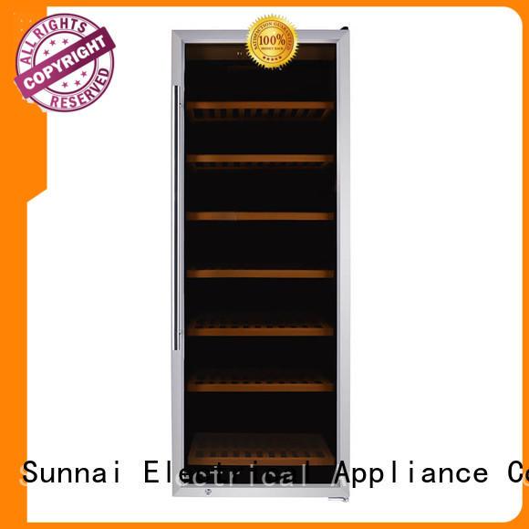 Sunnai cellar free standing wine refrigerator wholesale for shop