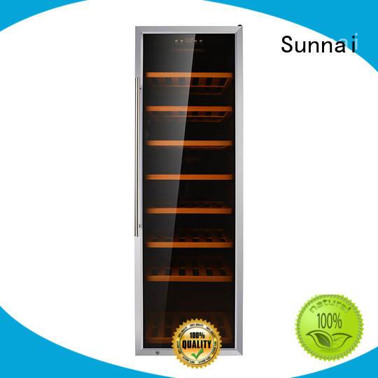 Sunnai black single zone wine fridge product for work station