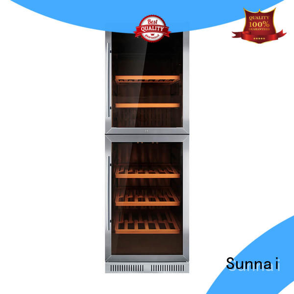 Sunnai online double doors wine cooler cooler for indoor
